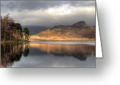 Tranquility Greeting Cards - Clearing Weather At Blea Tarn Greeting Card by Terry Roberts Photography