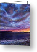 Beach Pastels Greeting Cards - Clearwater Beach Sunset Greeting Card by Susan Jenkins