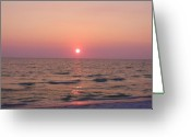Sun Framed Prints Greeting Cards - Clearwater Sunset Greeting Card by Bill Cannon