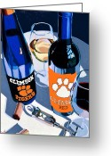 Beer Greeting Cards - Clemson Red and White  Greeting Card by Christopher Mize