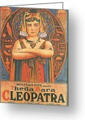 Motion Picture Greeting Cards - Cleopatra Greeting Card by Nomad Art and  Design