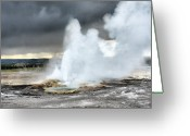 Water Greeting Cards - Clepsydra Geyser West Yellowstone National Park USA WY Greeting Card by Christine Till
