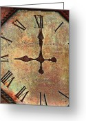 Earth Tone Greeting Cards - Clevedon Clock Greeting Card by Robert Smith