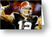 Qb Greeting Cards - Cleveland Browns Colt McCoy Greeting Card by Paul Van Scott