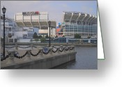 Bleachers Greeting Cards - Cleveland Browns Stadium Greeting Card by Robert Harmon