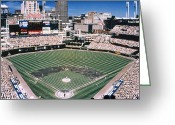 Indians Greeting Cards - Cleveland: Jacobs Field Greeting Card by Granger