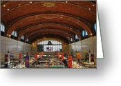 Market Greeting Cards - Clevelands West Side Market Greeting Card by Robert Harmon