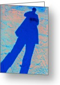 Me And My Shadow Greeting Cards - Cliche  Me and My Shadow Greeting Card by Rianna Stackhouse