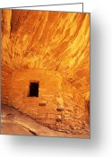 Grand Gulch Greeting Cards - Cliff Dwelling Greeting Card by Mike Norton