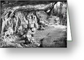 Native American Indians Greeting Cards - Cliff Dwellings Greeting Card by John Rizzuto
