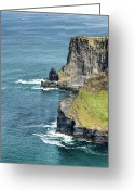 Azure Blue Greeting Cards - Cliff of Moher 8 Greeting Card by Douglas Barnett