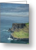 Azure Blue Greeting Cards - Cliff of Moher 9 Greeting Card by Douglas Barnett