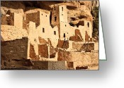 Mesa Verde Greeting Cards - Cliff Palace Greeting Card by Adam Pender