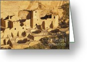 Mesa Verde Greeting Cards - Cliff Palace at Mesa Verde National Park Colorado Greeting Card by Alex Cassels