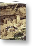 Early American Dwellings Greeting Cards - Cliff Palace Kiva Mesa Verde Greeting Card by John  Mitchell