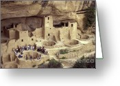 Early American Dwellings Greeting Cards - Cliff Palace Mesa Verde Greeting Card by John  Mitchell