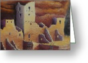 Anasazi Greeting Cards - Cliff Pallace Greeting Card by Jerry McElroy