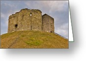 Mound Greeting Cards - Cliffords Tower - York Greeting Card by Trevor Kersley