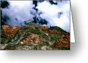 Mammoth. Greeting Cards - Cliffs of Laurel Canyon Greeting Card by Tina Slee