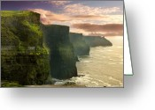 County Clare Greeting Cards - Cliffs of Moher - 2 Greeting Card by Robert Lacy