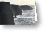 Atlantic Ocean Greeting Cards - Cliffs of Moher 1 Greeting Card by Mike McGlothlen