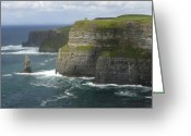 Atlantic Ocean Greeting Cards - Cliffs of Moher 2 Greeting Card by Mike McGlothlen