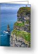 County Clare Greeting Cards - Cliffs of Moher 41 Greeting Card by Douglas Barnett
