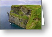 Eire Greeting Cards - Cliffs of Moher Greeting Card by Gabriela Insuratelu