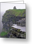 Galway Greeting Cards - Cliffs of Moher Ireland Greeting Card by Charles Harden
