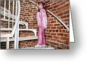 Spiral Staircase Painting Greeting Cards - Climbing Cape May Lighthouse Greeting Card by Nancy Patterson