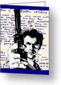 Clint Eastwood Greeting Cards - Clint Eastwood as Dirty Harry Greeting Card by Jason Kasper
