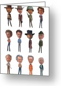 Cowboys Greeting Cards - Clint Greeting Card by Mitch Frey