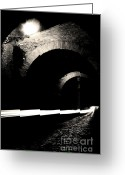 Cobblestones Greeting Cards - Clivo di Scauro Greeting Card by Fabrizio Troiani