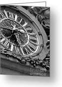 Brdige Greeting Cards - Clock Face Greeting Card by ArtyZen Studios