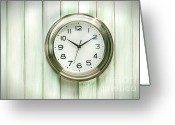 Analogue Greeting Cards - Clock on the wall Greeting Card by Sandra Cunningham
