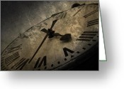 Analogue Greeting Cards - Clock Greeting Card by Svetlana Sewell