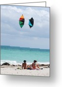 Kites Digital Art Greeting Cards - Close Encounters Greeting Card by Rob Hans
