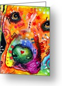 Pop Art Mixed Media Greeting Cards - Close Up Lab warpaint Greeting Card by Dean Russo