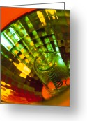 Halogen Greeting Cards - Close-up Of A Halogen Lamp Greeting Card by Steve Horrell