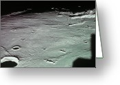 Meteor Photo Greeting Cards - Close-up Of The Craters On The Surface Of The Moon Greeting Card by Stockbyte