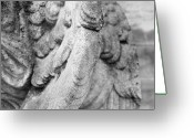 Cities Art Greeting Cards - Close Up Of Wing Of Statue, Germany Greeting Card by This Is About My Way To See Light & Form In 2 Dimensions