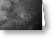 Lunar Mare Greeting Cards - Close-up View Of Copernicus, An Impact Greeting Card by Rolf Geissinger