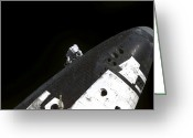 Maintenance Greeting Cards - Close-up View Of The Nose Cone On Space Greeting Card by Stocktrek Images