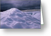 Glacier Greeting Cards - Close View Of An Icy Glacier Greeting Card by Stacy Gold