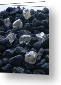 Johannesburg Greeting Cards - Close View Of Crystals Scattered Among Greeting Card by James P. Blair