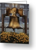 Antiquities And Artifacts Greeting Cards - Close View Of The Liberty Bell Greeting Card by Kenneth Garrett