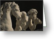 Latium Region Greeting Cards - Close View Of The Trevi Fountain Greeting Card by Marc Moritsch