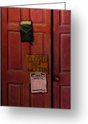 Business Painting Greeting Cards - Closed for Auction Greeting Card by Doug Strickland