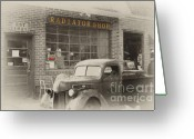 Selective Color Greeting Cards - Closed For Business Greeting Card by Kathy Jennings