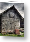Old Barn Greeting Cards - Closed For Business Greeting Card by Pete Hellmann